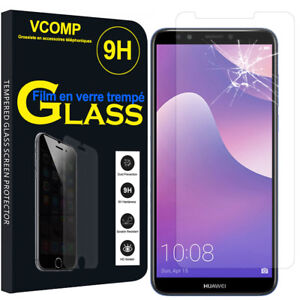 Lot/Pack Film Toughened Glass Protection High Quality for Huawei Y7 (2018)
