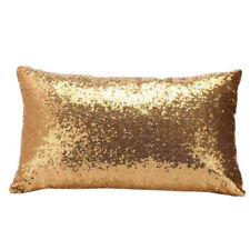 Rectangular Sequins Throw Pillow Cases Cushion Cover Bed Home Decorations Gold