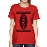 Crayon Womens Red Shirt