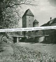 Amberg in der Oberpfalz - An der alten Stadtmauer - Ziegeltor - um 1925  U 24-10