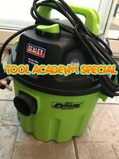 BOXED - SEALEY PC102HV Vacuum Cleaner Wet & Dry 10ltr 1000W/230V Hi-Vis Green