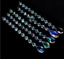 10Pcs ABcolor Crystal Garland Wedding Strand Chandelier Hanging Prism Pendant