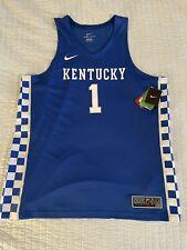 Men's Nike Team Elite Kentucky Wildcats Basketball #1 Jersey Xxl