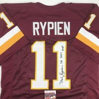 Autographed/Signed MARK RYPIEN SB XXVI MVP Washington Burgundy Jersey JSA COA