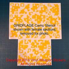 GRIDFLAGE Camo Vinyl Stencil, Large Digital, For Duracoat, Cerakote, Krylon!