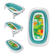 Tiempo de Baño del Bebé Azul Diseño Plegable Splash & Play Animales Bañera Transportable