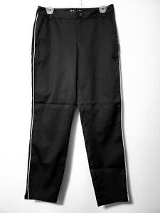 S Oakley Golf Bella Chino Pants Black W/ Gray Piping Regular Fit NWT Womens