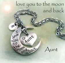 Aunt I Love You to the Moon and Back Necklace * Great Gift for Your Special Aunt