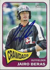 Jairo Beras Texas Rangers 2014 Topps Heritage Signed Card