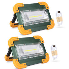 100000LM Portable LED Flashlight COB Work Light USB Rechargeable Searchlight