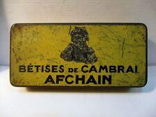 """Ancienne boite publicitaire """"BETISES de CAMBRAI AFCHAIN"""""""
