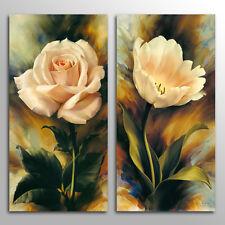 Unframed Home  Decor Canvas 2 Panels Wall Art Rose  Tulop Wall Art Canvas Prints