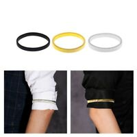 Mens Shirt Sleeve Holder Metall Anti-Rutsch-elastisches Armband Armband