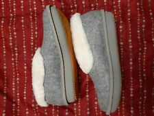 CLOUDSTEPPERS by Clarks Faux Fur & Felt Slippers Step Flow Low Grey