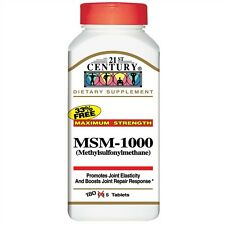 21st Century MSM-1000 Tablets, 180ct 740985222782A900