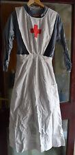 Ww1 Ww2 nurses uniform apron dress arm covers belt head scarf Enid Betty Dorset