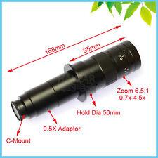 180X C-Mount Objective Lens Monocular Zoom Lens for Microscope & Digital Camera
