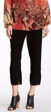 NWT Da Nang Women's Corduroy Cropped Pants Black Size Small
