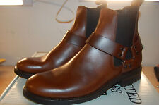 FRYE Stone Harness Chelsea Motorcycle Boot Leather NIB 10 M Mens Whisky $360