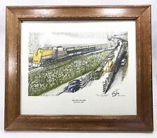 Tony Cumpton Arriving Ashland Streamlined #490 Signed Numbered Framed 81/200