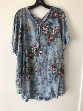 NWT Glima Cotton Sweatshirt PrintedTie Dye Multicolor Women Size L Flowers