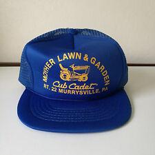 Vintage Moyher Cub Cadet Murrysville PA Mesh Snapback Trucker Hat Blue