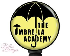 The Umbrella Academy Badge Reel Color Options ID Holder