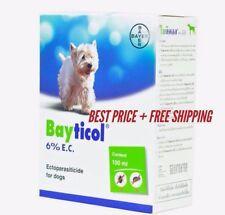 Bayer Bayticol 6% EC. 100 ml. For Dog Remove Flea Control Tick Remedies