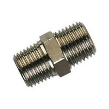 "1/2"" BSP 316 STAINLESS STEEL HEX NIPPLE 15mm MALE MALE JOINER"