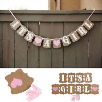 Its a Boy Girl Banner Bunting Garland Birth Baby Shower Party Hanging Decor Gift