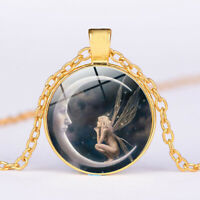 Sweater chain Fashion long Chain Pendant Necklace Moon Jewelry Photo Glass Girl