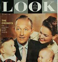Look Magazine June 1960 Bing Crosby, March 1962 Westerns, Dec 1963-Gary Grant