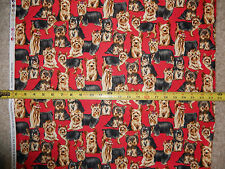 Dog dogs Lhasa Apso Schitzu Wire Terrier fearless red C 3574 tt fabric