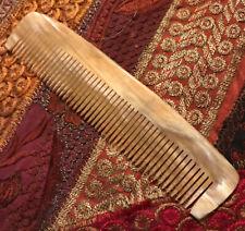 "Dovo 6"" Natural Water Buffalo Horn Beard & Mustache Grooming Comb For Men Women"