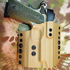 "Flat Dark Earth OWB Level 2 holster for SIG SAUER 1911 Scorpion 5"" Kydex"