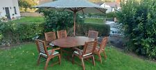 Teak Extending Garden Furniture Table And 6 Chairs