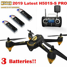 Hubsan H501S S PRO Drone 5.8G FPV Brushless 1080P CAM GPS Quadcopter,3 Batteries
