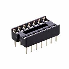 (2 PCS) 14-Pin DIP IC Socket Adaptor Solder Type Retention Contact - USA SELLER!