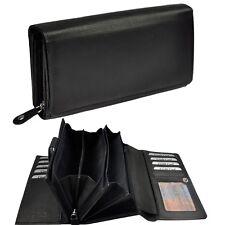 XXL Damengeldbörse 28 Fächer Rindleder Portemonnaie Geldbeutel Geldtasche 6022XL