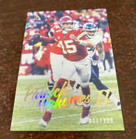 "PATRICK MAHOMES CHIEFS 2020 PANINI LUMINANCE GOLD #'D 046/299 ""SWEET"""