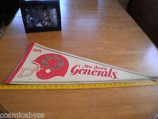 1982 USFL New Jersey Generals pennant full size HTF Football