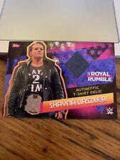 Topps WWE Slam Attax Reloaded Shayna Bazler T-shirt Relic Card Royal Rumble RARE