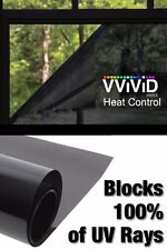 "30"" x 10ft Heat Control 100% UV Block Dark Window Vinyl Wrap Roll Privacy Film"