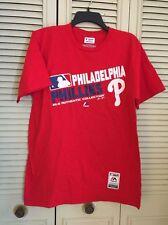 Philadelphia Phillies Shirt Authentic Majestic Triple Peak Soft Feel NWOT Sz L