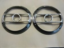 """ROCKFORD FOSGATE 7"""" GRAY & CHROME SUBWOOFER COVER / GRILL PAIR (2) MARINE BOAT"""