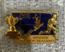 Rugby World Cup New Zealand Badge. Winners of First Rwc in 1987