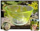 Kosta Boda Art Glass Mine Bowl Clear Lime Green Swirls Ulrica Hydman Vallien