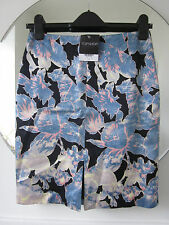 BNWT TOPSHOP SILKY TROPICAL NEON PASTEL BLACK FLORAL PENCIL SKIRT 8 36 SOLD OUT