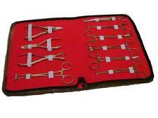 10 Pezzi, Professionale Body Piercing Attrezzi Kit, Acciaio Inox CE Deve Look