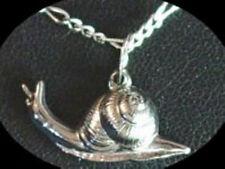 LOOK Silver Snail Pendant Charm Animal Celtic Jewelry